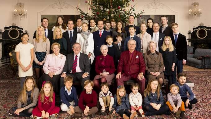 På julfest med drottning Margrehte och prins Henrik år 2014. Foto: STEEN BROGAARD