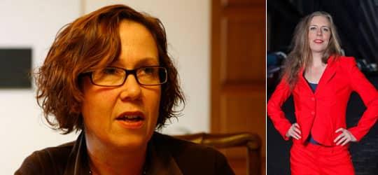 Madeleine Sjöstedt och Martina Montelius.