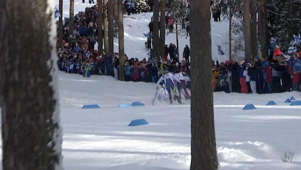 Här faller Kalla i Skiathlonen