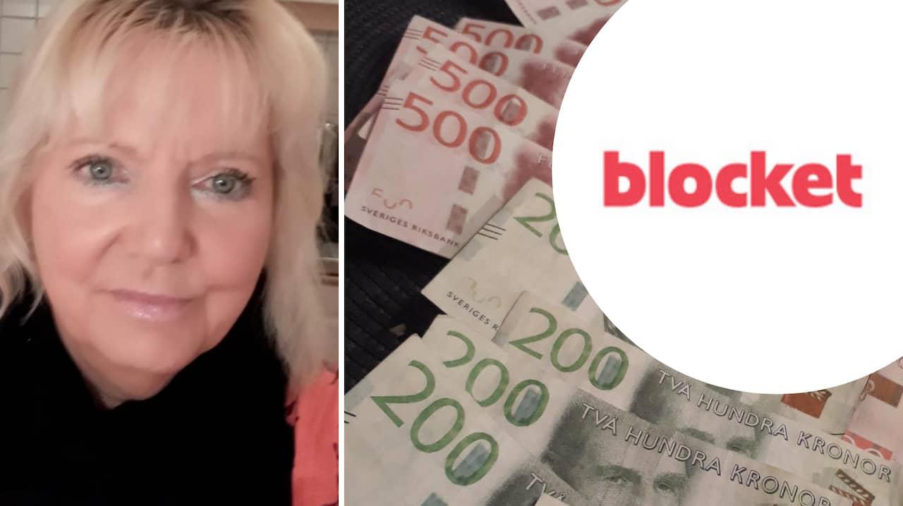 Falska sedlar: Pia, 63, lurad på 12 500 i affär på Blocket