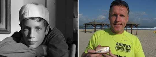 Alex Blackburn, 12, avled i en sjukdom och nu reser Anders Forselius världen över med hans aska. Foto: PRIVAT