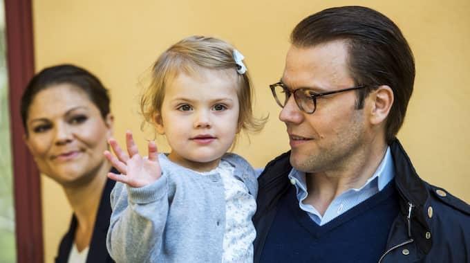 Den här bilden togs den dagen Estelle började förskolan Äventyret i Danderyd, 2014. Nu har prinsessan bytt förskola. Foto: Suvad Mrkonjic