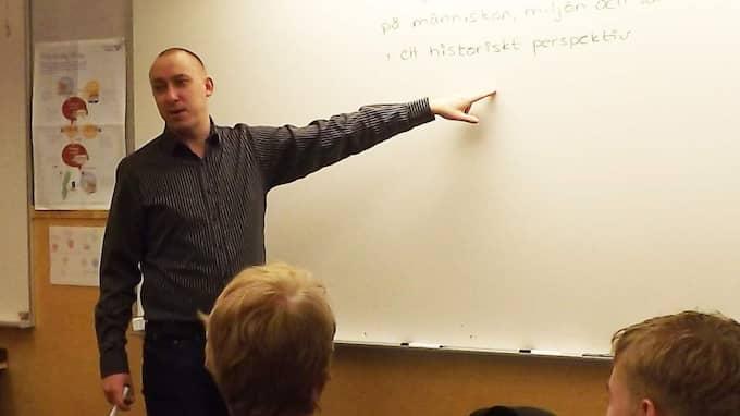 Patrik Holmkvist, matte- och NO-lärare. Foto: Privat