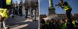 En död och flera skadade efter protester i Frankrike