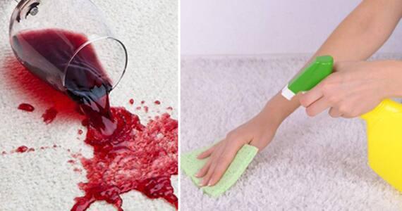 ta bort blodfläckar på matta