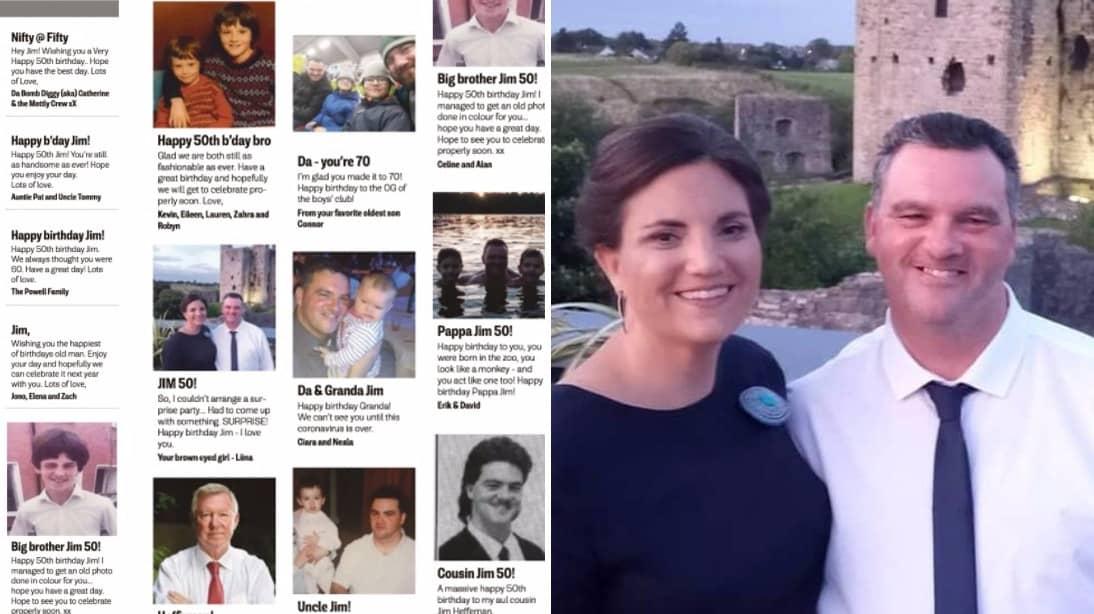 Liina överraskade sin Jim – med 16 grattisannonser