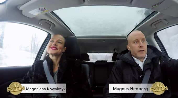 Den nya programledaren Magdalena Kowalczyk och veteranen Magnus Hedberg. Foto: TV3/Lyxfällan