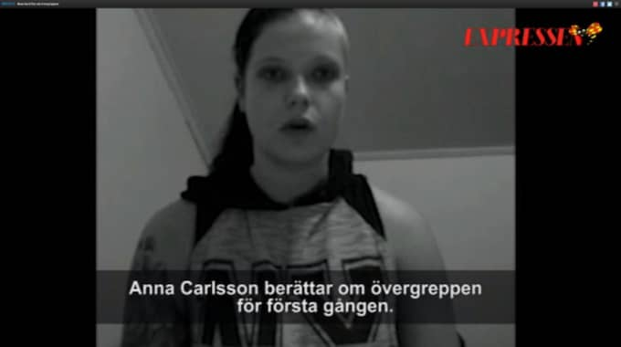 I en film berättar Anna Carlsson sin historia. Foto: Privat