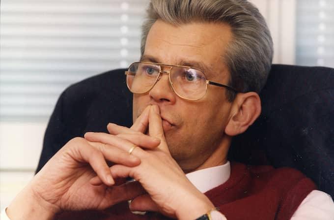 LÄMNADE EFTER KRITIK. Spaningsledaren Hans Ölvebro avgick efter intern kritik 1997. Han har i efterhand sagt att tiden i Palmeutredningen var förlorade år i hans liv. Foto: BENKT EURENIUS / DN