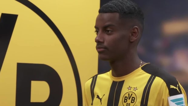 Alexander Isak presenterad i Dortmund