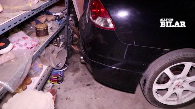 Chocken i garaget