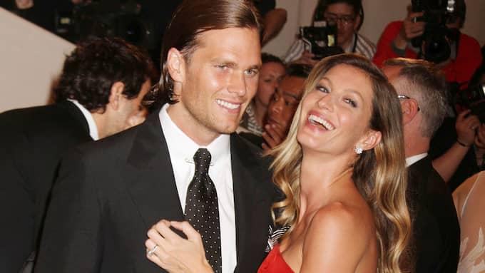 Tom Brady med hustrun Gisele Bündchen. Foto: NANCY KASZERMAN / ZUMAPRESS.COM ZUMA PRESS