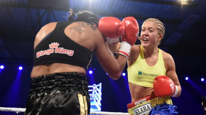 Klara Svensson förbereder sig för supermatchen mot Mikaela Laurén i september. Foto: Bildbyrån