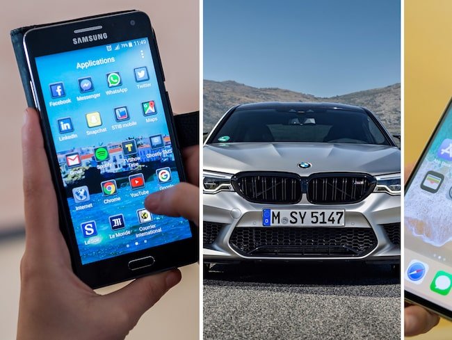 Skiljer sig köpmönstret sig mellan Android- och Iponeanvändare när det kommer till bilmärken?