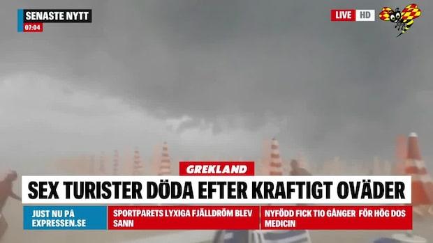 Flera turister döda i Grekland efter hagelstorm