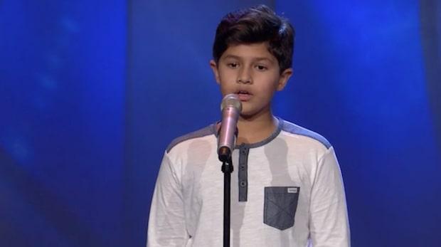 Kevin Johansson, 10, sjunger för sin autistiske bror