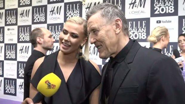 """Börje och Bianca Salming visar upp sig på röda mattan på Ellegalan: """"Ska dricka champagne"""""""