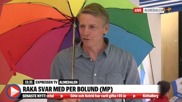 """Per Bolund (MP): """"Det ger en känsla av otrygghet"""""""