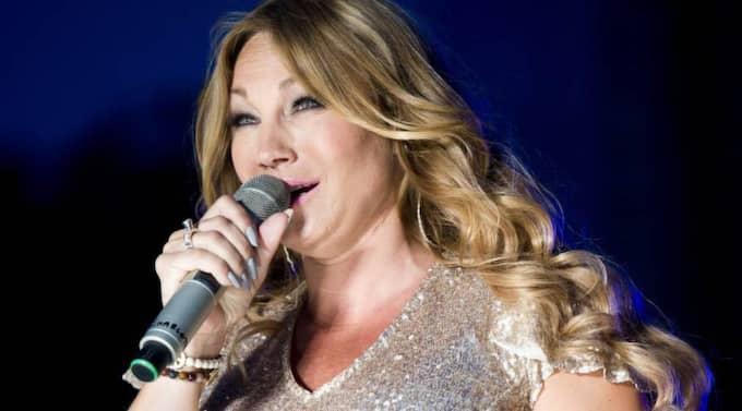 Gravid. Sångerskan Charlotte Perrelli är ute på turné med Diggiloo-gänget. Det är bara några veckor kvar till förlossningen. Foto: RICKARD NILSSON Foto: Rickard Nilsson