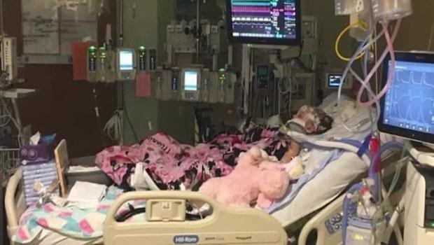 Tre år gamla Hannah Wesche blev slagen av sin barnvakt