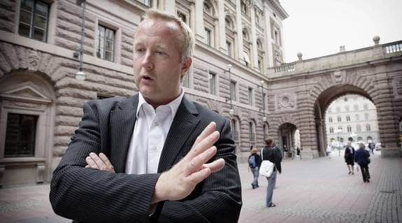 Johan Pehrson, folkpartiet. Foto: Mikael Sjöberg