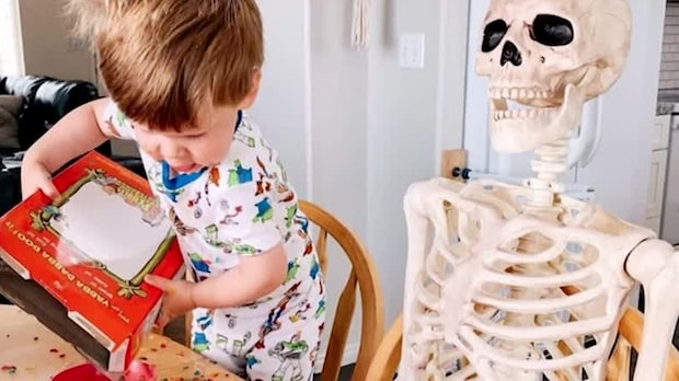 Ettåringens bästa kompis: Ett skelett