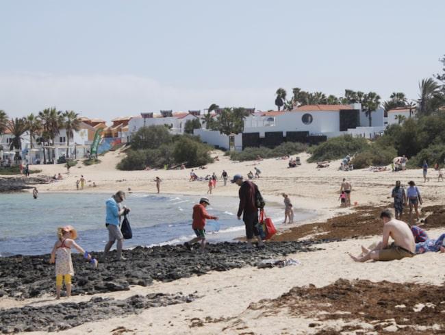 Strand i Corralejo, Fuerteventura.