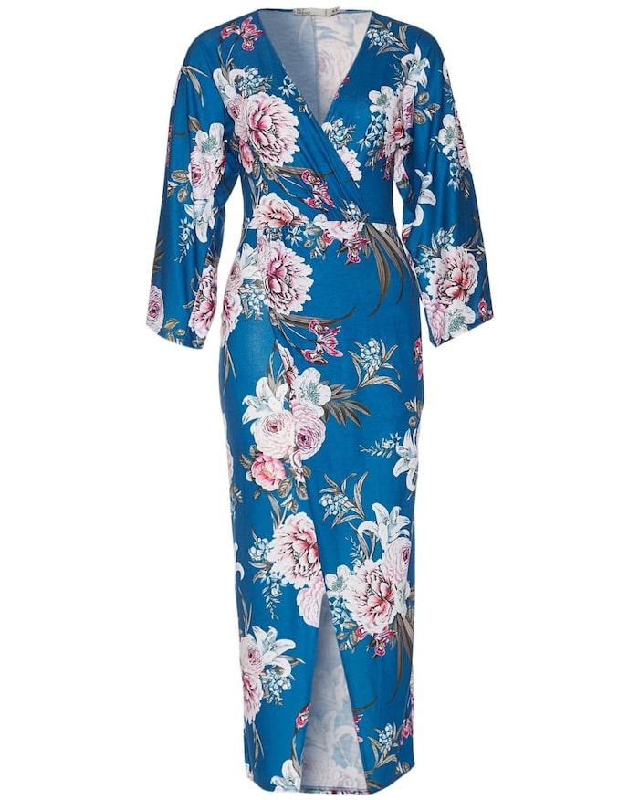 b5b4e2684e92 Omlott och v-ringad långklänning i trikå från NLY Trend, 399 kr, Nelly.com.