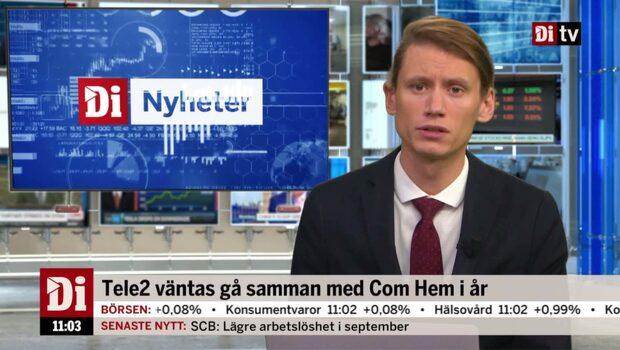 Di Nyheter 11.00 18 okt - Tele2 uppåt efter rapporten