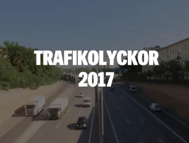 Så såg trafikolycksstatistiken ut för 2017