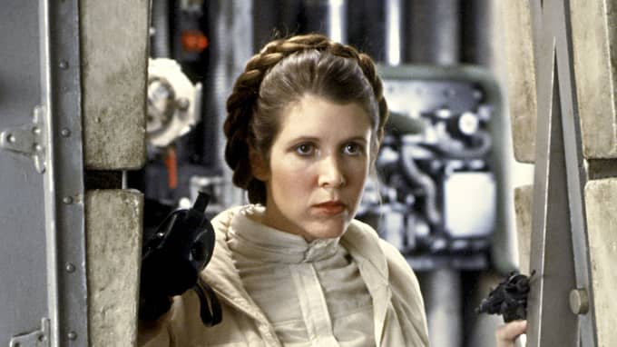 Carrie Fisher som prinsessan Leia. Foto: CENTURY FOX/REX/SHUTTERSTOCK / CENTURY FOX/REX/SHUTTERSTOCK REX FEATURES