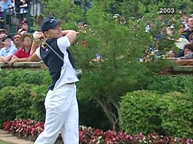 Arkiv: Annika Sörenstam möter män i PGA 2003