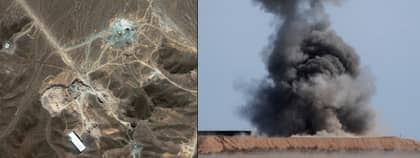 Nu bekräftar en rapport från FN:s internationella atomenergiorgan, IAEA, att Iran arbetar med att färdigställa kärnvapen. Obs! Bilden till höger är tagen vid ett annat tillfälle. Foto: Scanpix