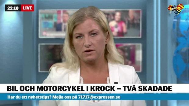 Bil och mc i krock –två skadade i Uddevalla