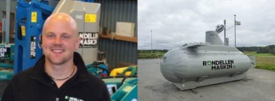 NÖJD. Samuel Lundberg är nöjd med sin nya ubåt.