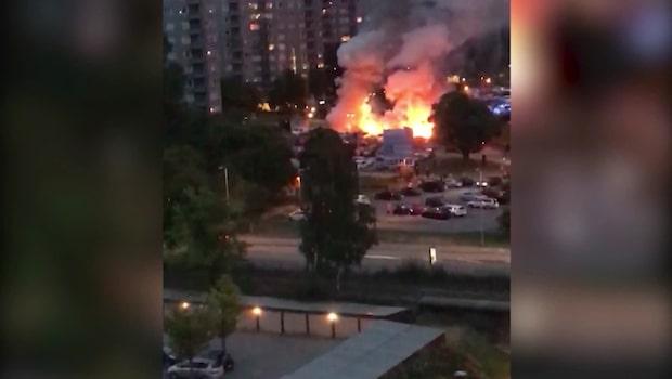 Larm om flera bilbränder i Göteborg