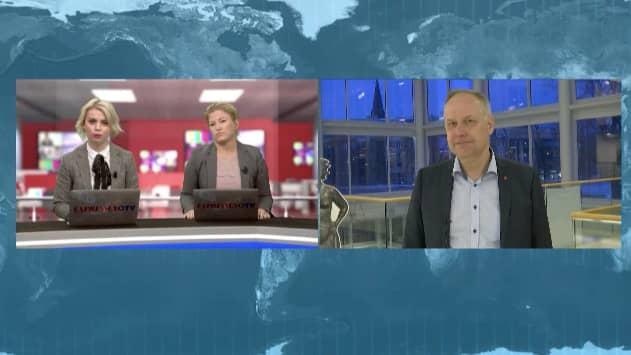 Jonas Sjöstedt intervjuades av Ylva Johansson och Johanna Grenz i Expressen TV.