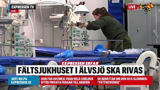 Region Stockholm vill riva fältsjukhuset i Älvsjö, erfar Expressen