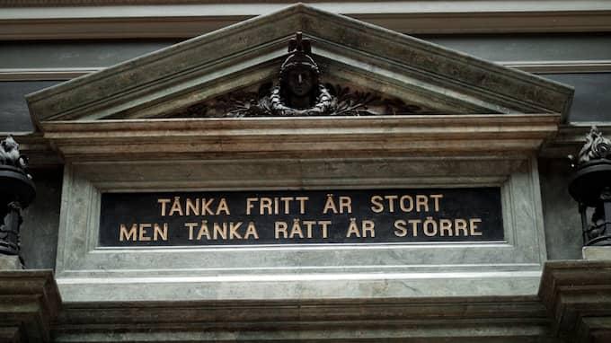 Välkänt motto från Uppsala Universitet. Foto: FREDRIK PERSSON / PRESSENS BILD