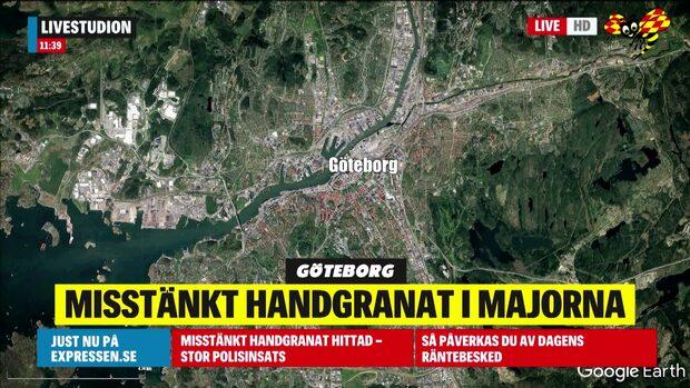 Misstänkt handgranat har hittats i Göteborg