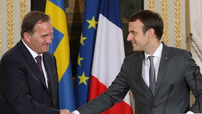 Den franska presidenten Emmanuel Macron är en av alla celebra gäster som bjudits in av Stefan Löfven till Göteborg i november. Foto: KRISTOFER SANDBERG