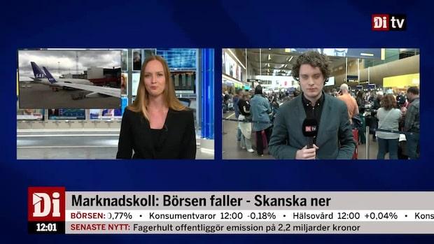 Nyheter 12.00: Hundratusentals drabbade av SAS-strejken