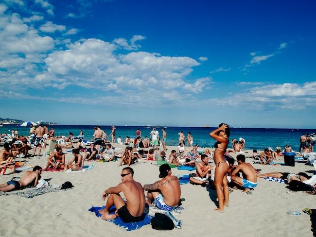 Mannen var på väg till Ibiza för att fira svensexa.
