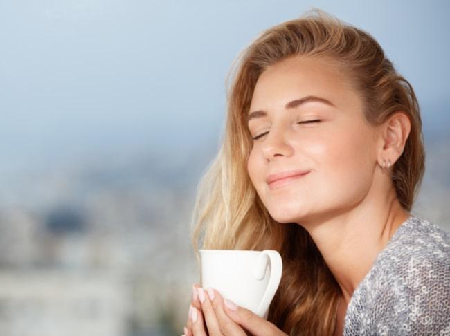 dålig hy av kaffe