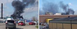 Allmänheten varnas –  giftig rök från brand