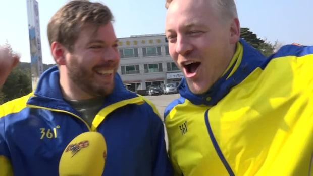 Pojkvännernas glädjevrål över curlingguldet