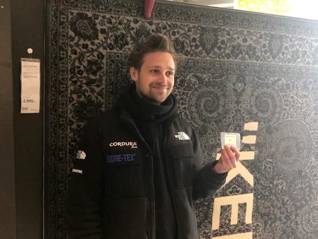 Olof, 28, köade i ett dygn för exklusiva Ikea-mattan