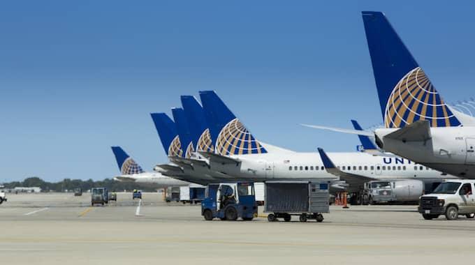 United Airlines aktiekurs sjönk i tisdags med fyra procent efter händelsen. Bolagets värde dök med en miljard dollar samtidigt som röster om bojkott har höjts. Foto: United Airlines / UNITED CREATIVE SERVICES 2012 PRODUKTBILD PRODUKTB