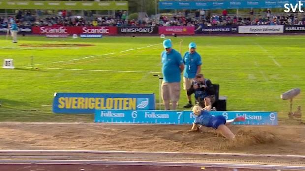 Höjdpunkter: Tilde Johansson slog nytt svenkt juniorrekord
