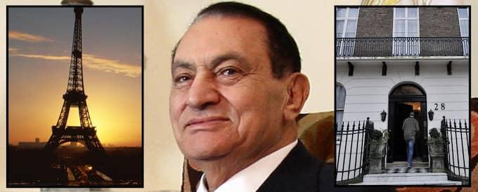 Hosni Mubarak äger fastigheter runt om i världen, bland annat i den här London . Han har också ställen i till exempel New York och Paris. Foto: Amel Pain / Epa / Scanpix